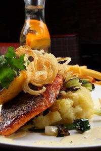 pan fried fillet of salmon