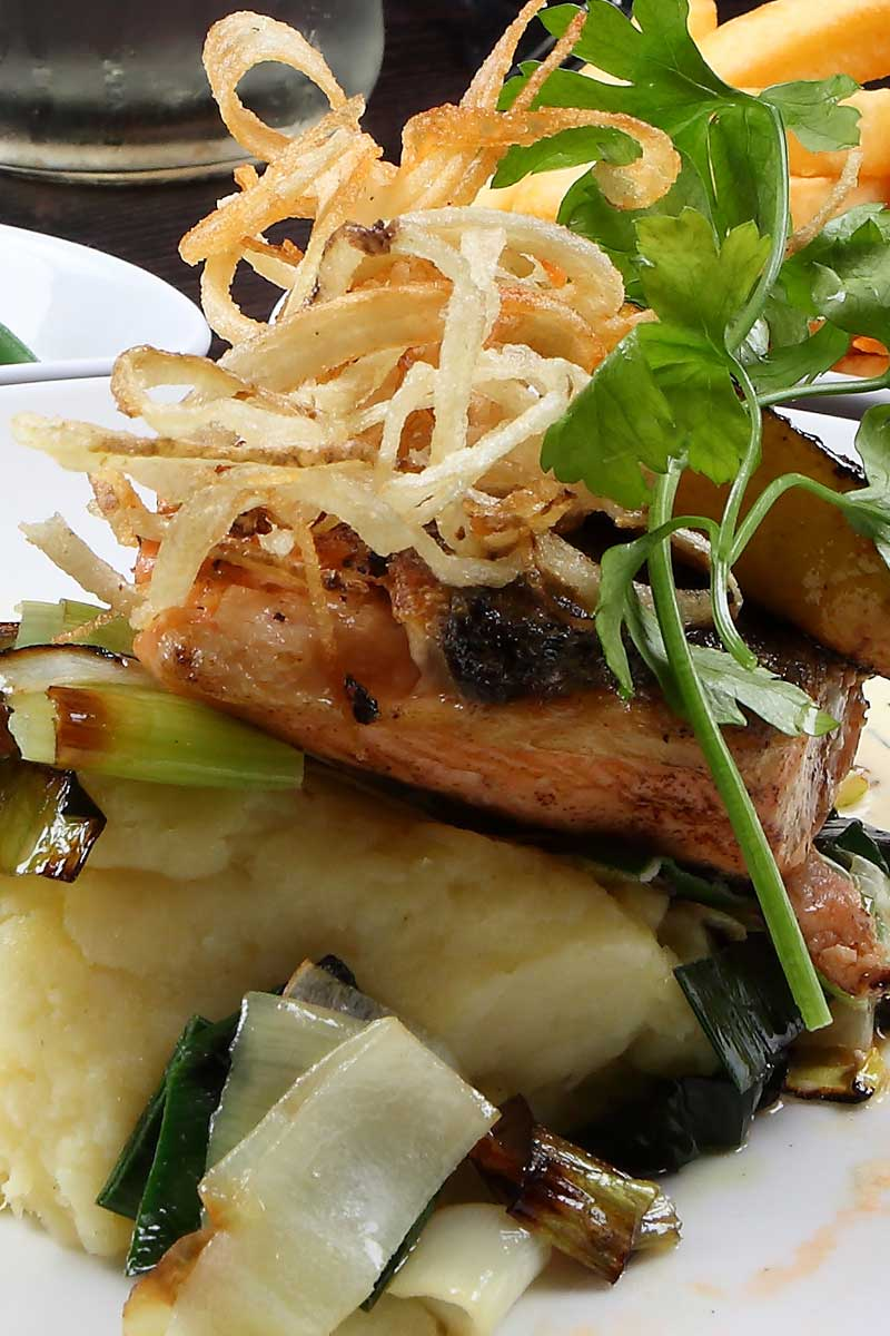 pan fried fillet of salmon