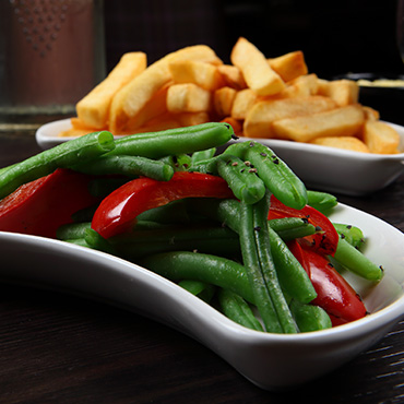 Freshly cooked vegetables at Andys Gastropub Nenagh
