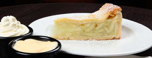 Apple Pie with Cream and Custard